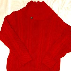 Red Cable knit child's sweater (Sz 12)